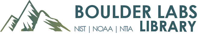 NOAA Library - Serving the Boulder Laboratories