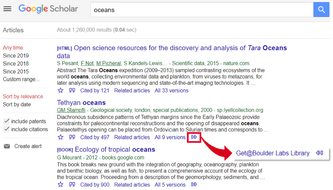 Google Scholar Get Link for ILL